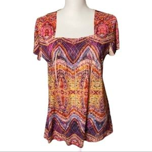 Bohemian Style & Co Cap Sleeve Top with Sequins